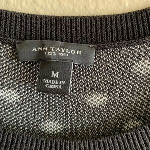 Ann Taylor Tops - Ann Taylor Black and White Polka Dot Sweater Tank